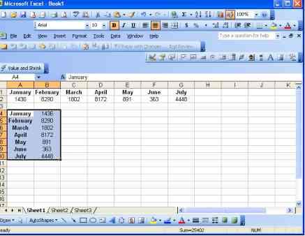Excel Transpose